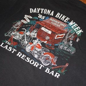 Vintage 1985 Bike Week T-shirt